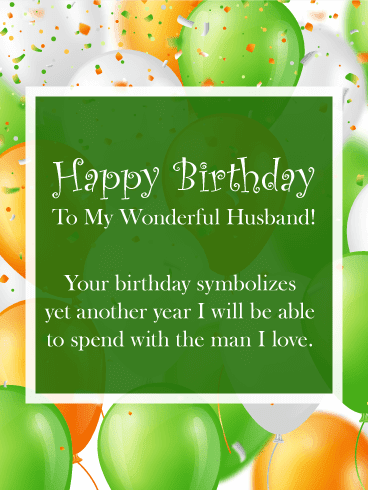 Send this I am Thankful for You – Happy Birthday Wishes Card for Husband