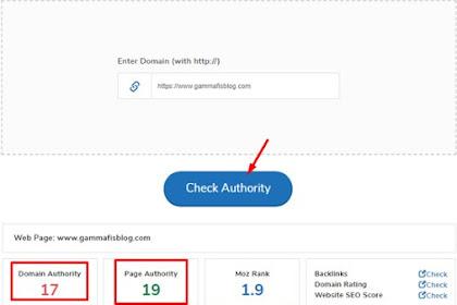 Cek DA PA Blog Serta Cara Meningkatkan Domain Authority dan Page Authority
