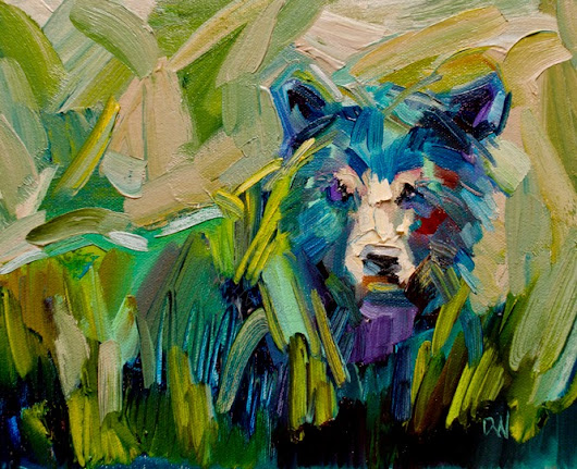 ARTOUTWEST DIANE Whitehead fine art oil painting bear animal art original