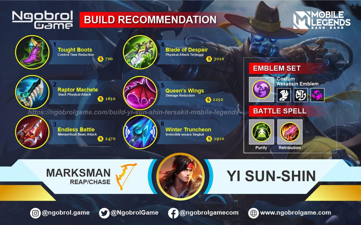 Build Yi Sun Shin Savage Mobile Legends