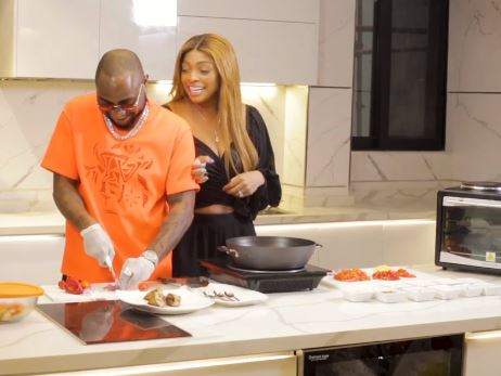 Davido Shows Off His Cooking Skills As He Joins His Sister, Sharon In The Kitchen (Video)