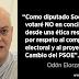 """Odón Elorza: """"votaré NO en conciencia""""."""