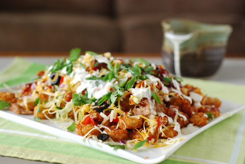 tater tot nachos, tatchos, game day food, recipe