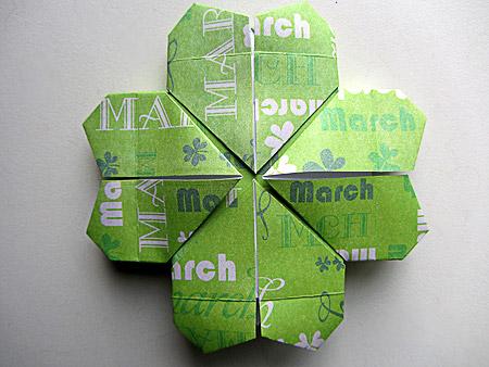 Origami-Instructions.com: Origami Four Leaf Clover - photo#7