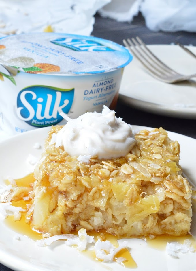 Pineapple Coconut Dairy Free Baked Oatmeal Bars
