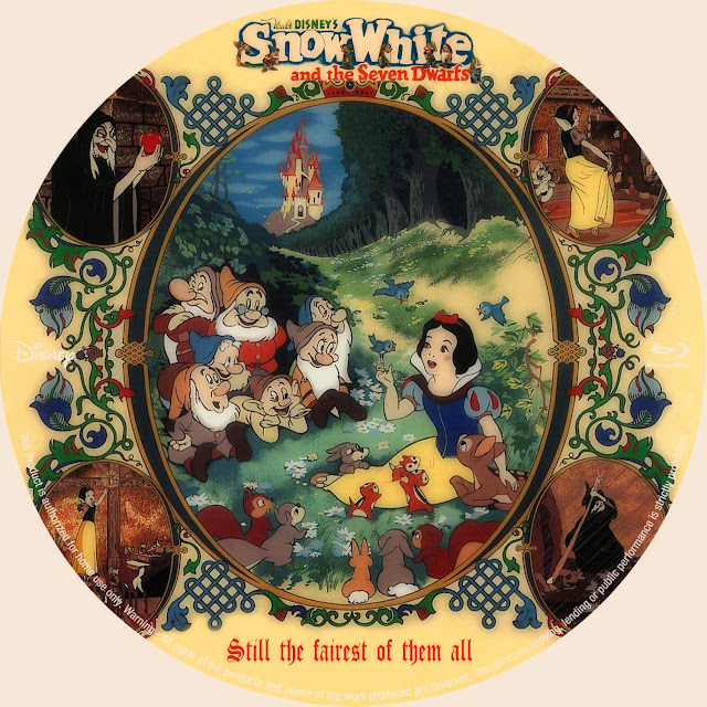 Snow White and the Seven Dwarfs (1937) Bluray Label