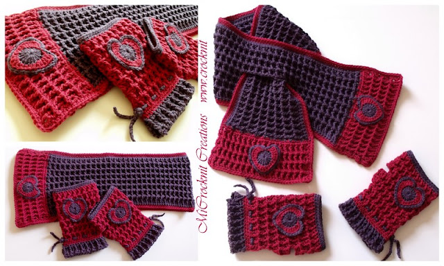 how to crochet, crochet patterns, keyhole scarf, fingerless mittens,