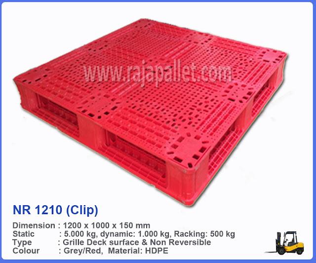 Pallet Plastik Medium Duty NR 1210 (Clip)