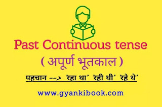 Past Continuous tense in hindi