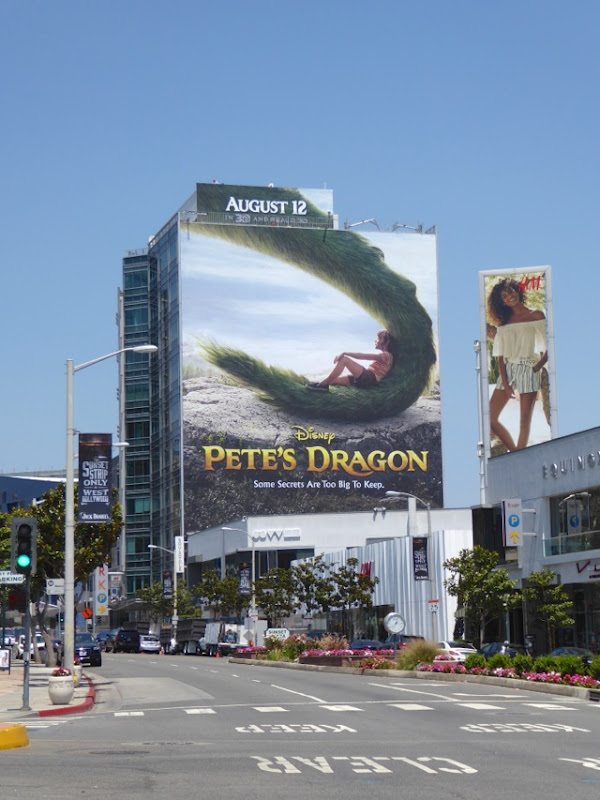 Disney Pete's Dragon film billboard