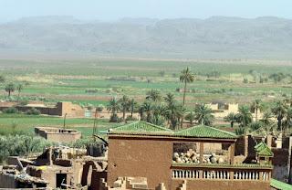 Vistas desde la kasbah de Taourirt, Ouarzazate.