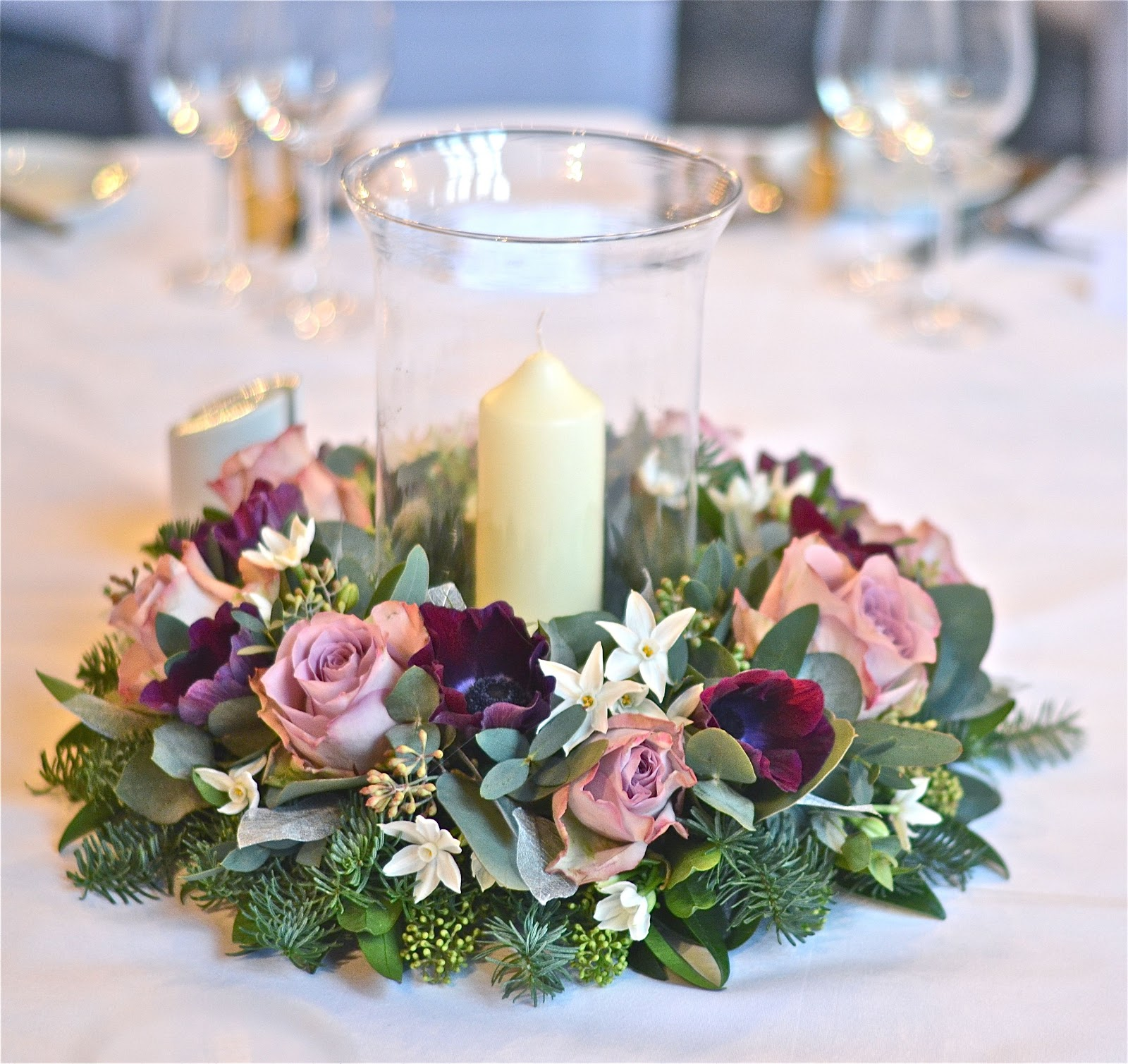 Flowers For Wedding Table Centerpieces: Wedding Flowers Blog: Lacey's Plum And Silver Winter