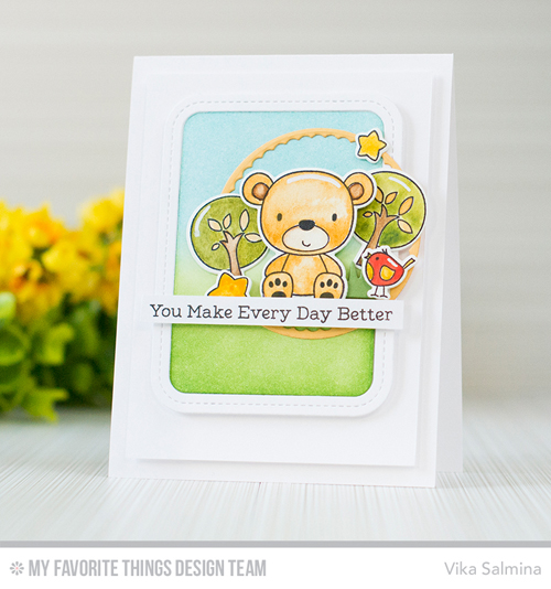 Handmade card from Vika Salmina featuring products from My Favorite Things #mfstamps