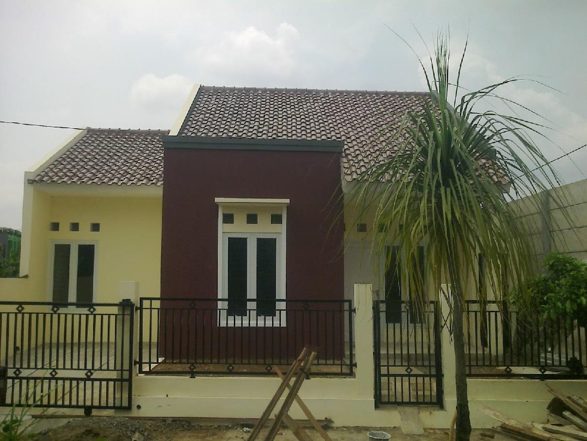 Hasil proyek Bangun Baru rumah 1 Lantai milik Bpk Husin Alatas di perumahan Nurul Ikhwan, Tanah Baru-Cimahpar, Bogor, Tahun 2013