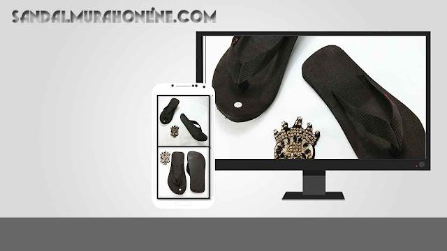 Grosir Sandal Murah Online - Sandal Jepit AB Warna Hitam DWS