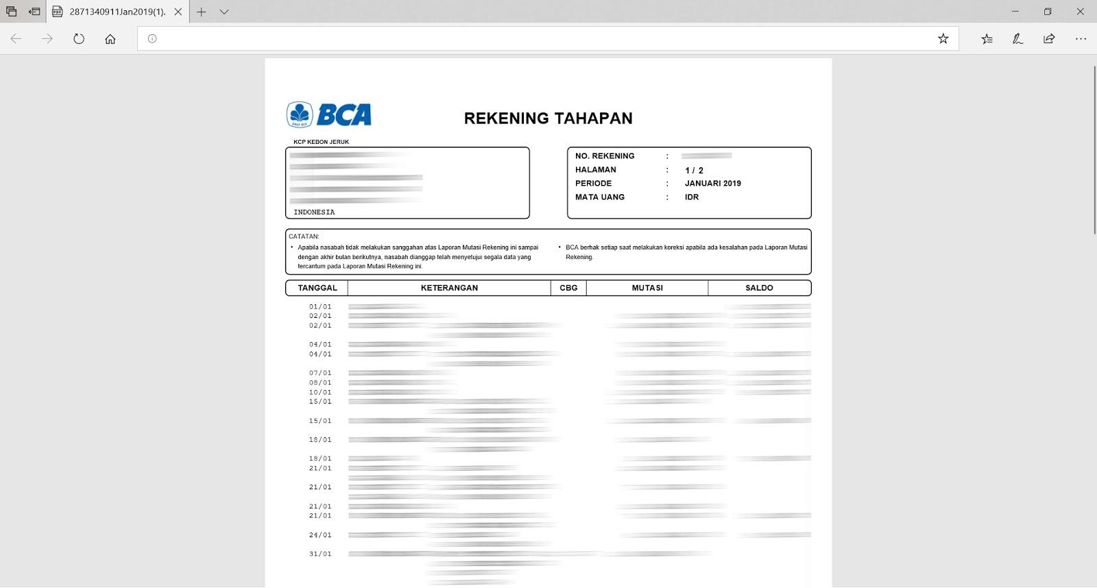 Sang Pelancong Cara Print Rekening Bca 3 Bulan Terakhir Tanpa Harus Ke Bank Bca