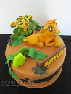 simba lion king cake
