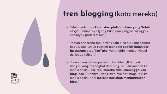 hasil wawancara tren kegiatan blogging