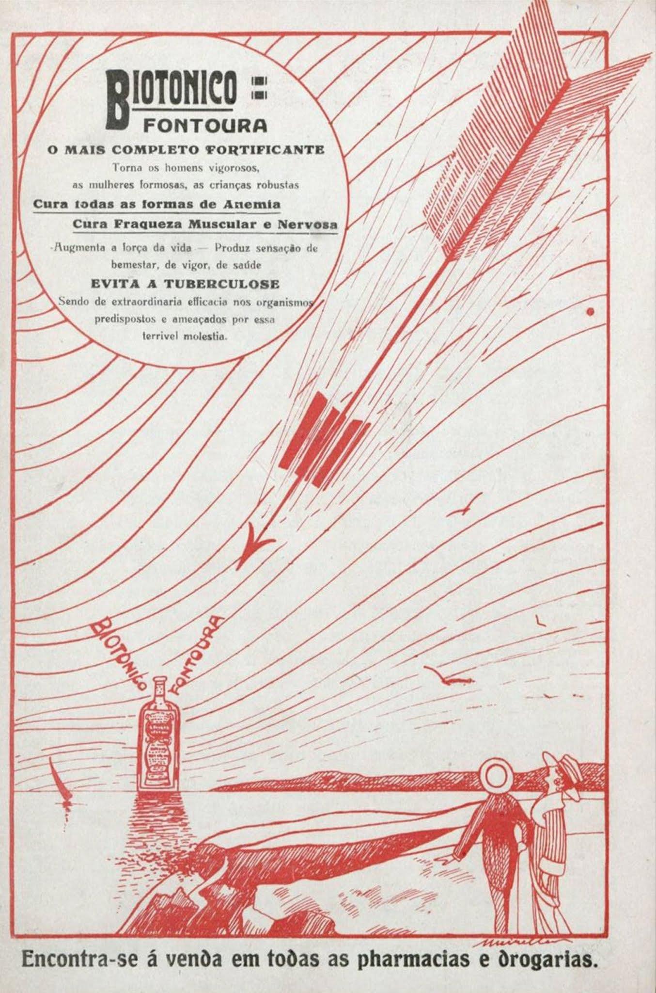 Propaganda antiga do Biotônico Fontoura veiculada em 1919
