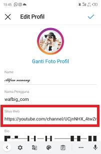 Cara Membuat Link Youtube di Bio Instagram