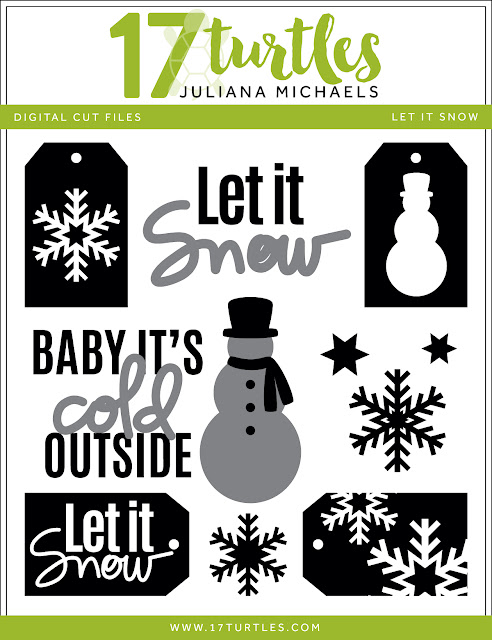 Let It Snow Free Digital Cut File by Juliana Michaels 17turtles.com