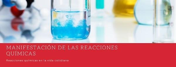 ▷ ¿Qué manifestaciones tiene una reacción química?