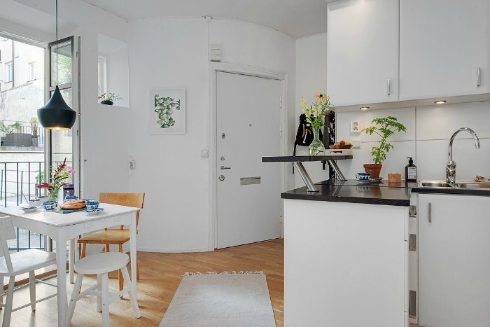 Una pizca de hogar salones pluriempleados small lowcost for Cocina y salon unidos