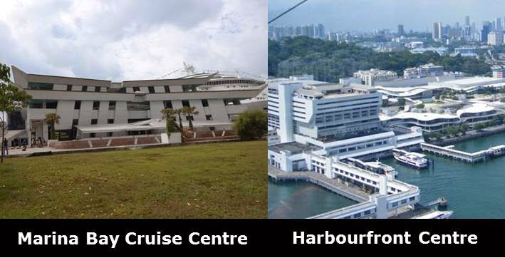 Singapore Cruise Terminals: Marina Bay Cruise Centre, Harbourfront Centre