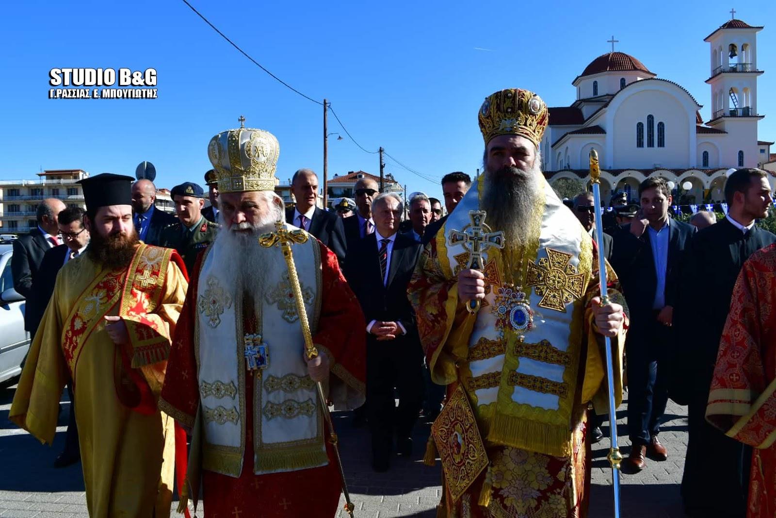 Η λιτάνευση της εικόνος του Αγίου Αναστασίου στο Ναύπλιο