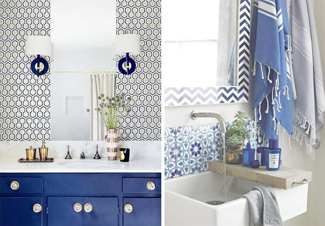 decoración azul