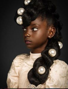 Beautiful photos of a child model Kheris Rogers who was bullied in school because of her skin colour