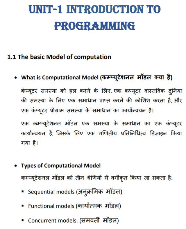 Chapter 1  Introduction to Programming of Programming & Problem Solving Through Python Language (M3-R5) NIELIT O Level