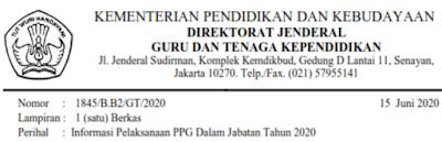 Info PPG Dalam Jabatan 2020