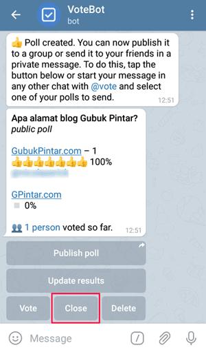 close poll bot vote telegram