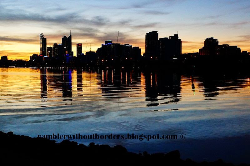 City skyline as from viewed from Heirisson Island, Perth, WA