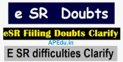 E-SR Filling Doubts Clarify given by Authorities