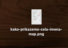 prikaz in imeni map
