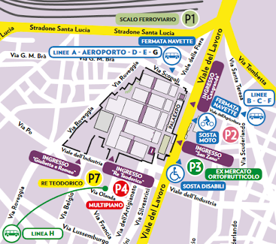 Mappa Parcheggi Vinitaly vicinanze