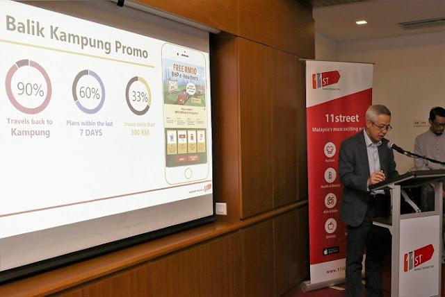 CEO 11street, Encik Hoseok Kim menyampaikan pandangan mengenai trend perbelanjaan Raya daripada kajian 11street baru-baru ini