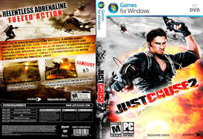 Jogo Just Cause 2 PC DVD Capa