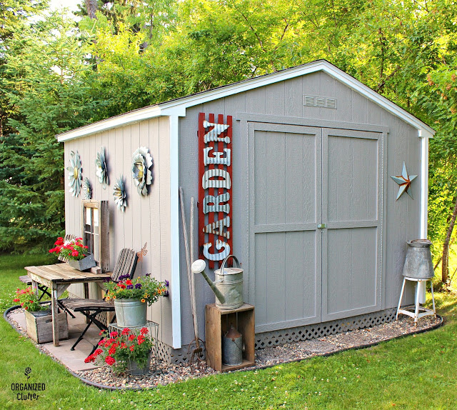 Home Depot Shed Kit With Junk Garden Landscaping