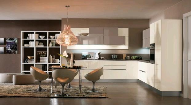 Kitchen Come Living Room Designs