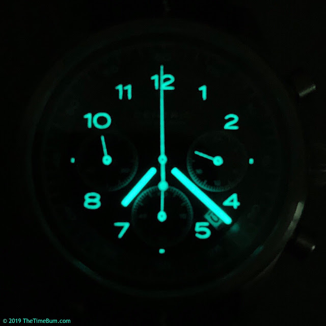 Centric Instruments Lightwell Chronograph lume