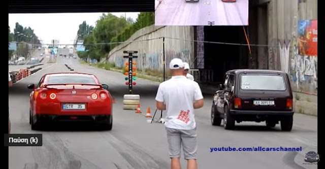 (video) Η κόντρα της δεκαετίας - Lada Niva ξευτιλίζει Nissan GT-R