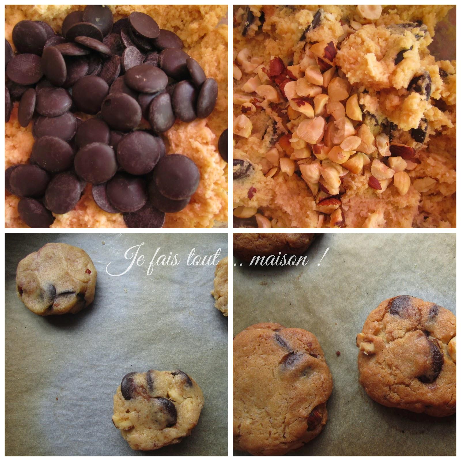 recette cookies chocolat noisettes