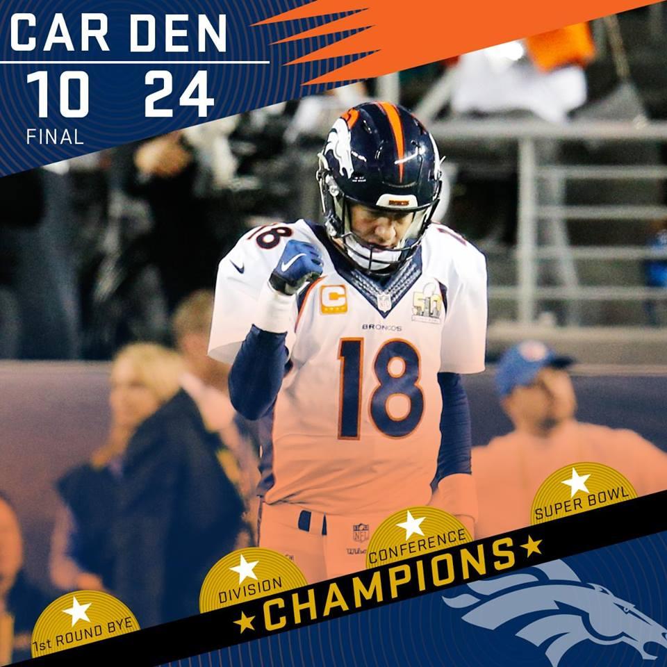 Win. Win! WIN! Denver Broncos #SB50 Champions!