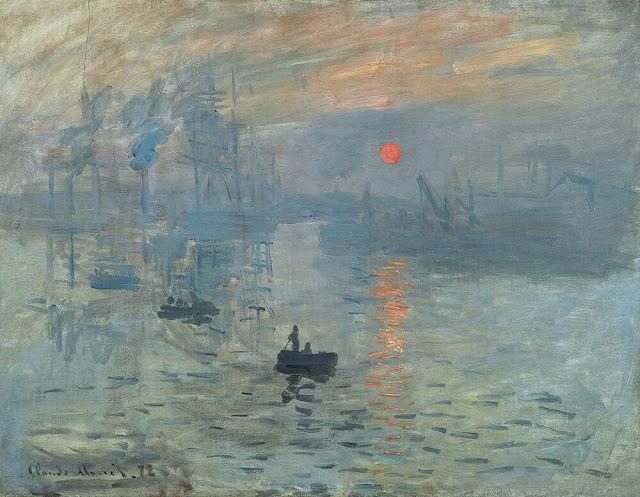 Famous painting, Impression, Sunrise by Claude Monet.jpg