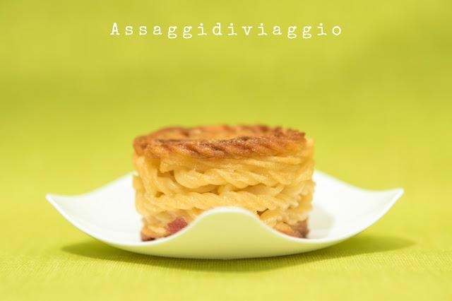 Minifrittatina di pasta alla carbonara - -tapas di pasta