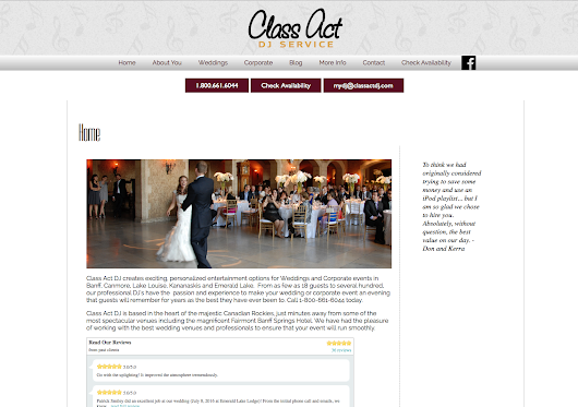 Willow Web Weavers: I have just finished making Class Act DJ's website responsive