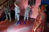 US cadets joined a clean up of flood-affected homes in Kolonnawa